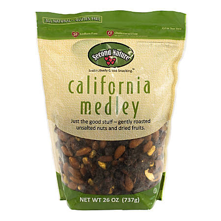 Second Nature Trail Mix, California Medley, 30 Oz Bag