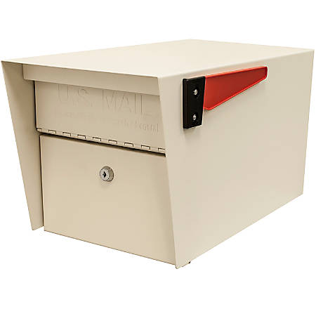"""Mail Boss Mail Manager Locking Security Mailbox, 11-1/4""""H x 10-3/4""""W x 21""""D, Off White"""