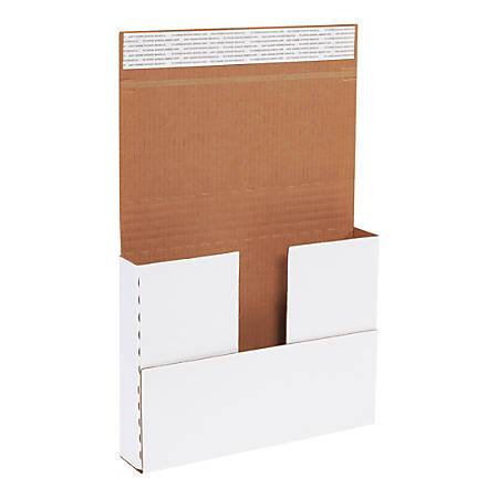 """Office Depot® Brand Self-Seal Multi-Depth Deluxe Easy-Fold Mailers, 12 1/8"""" x 9 1/8"""" x 2"""", White, Pack Of 25"""