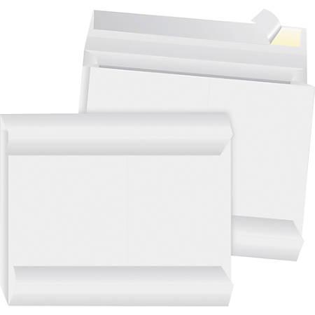 "Business Source Tyvek Side-openning Envelopes - Document - 10"" Width x 13"" Length - 2"" Gusset - Peel & Seal - Tyvek - 100 / Carton - White"