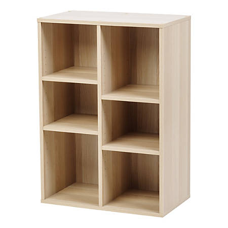 "IRIS 32-15/16""H 6-Cube Bookcase, Light Brown"