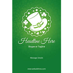 Custom Poster Vertical St Patrick Hat
