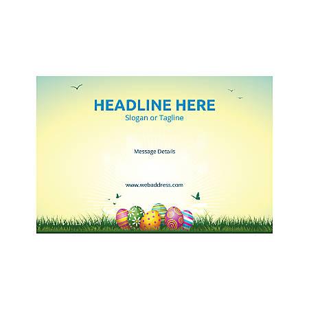 Window Decal, Horizontal, Easter Eggs